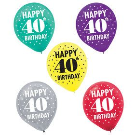 Here's to Your 40th Birthday Printed Balloons (15)