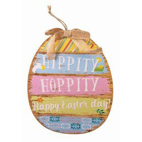 Hippety Hop Easter Egg Plaque