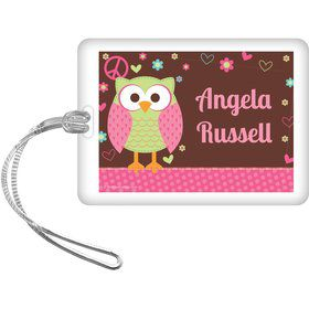Hippie Chick Personalized Bag Tag (each)