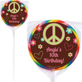 Hippie Chick Personalized Lollipops(pack of 12)