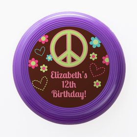 Hippie Chick Personalized Mini Discs (Set of 12)