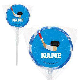 "Hockey Party Personalized 2"" Lollipops (20 Pack)"