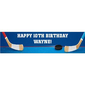 Hockey Party Personalized Banner (each)