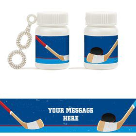 Hockey Party Personalized Bubbles (18 Pack)