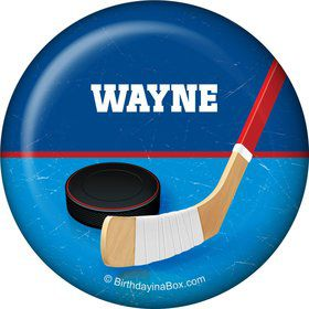 Hockey Party Personalized Button (each)