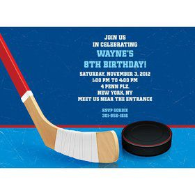 Hockey Party Personalized Invitation (each)