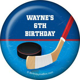 Hockey Party Personalized Magnet (each)