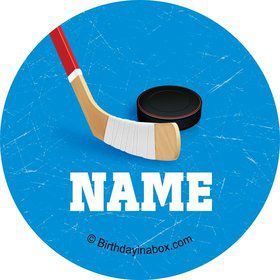 Hockey Party Personalized Mini Stickers (Sheet of 24)