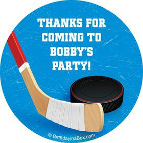 Hockey Party Personalized Sticker