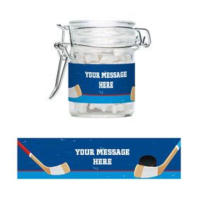 Hockey Party Personalized Swing Top Apothecary Jars (12 ct)