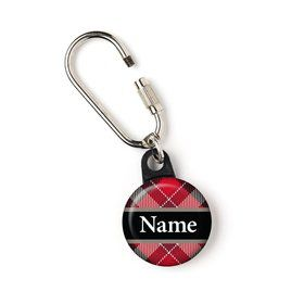 "Holiday Plaid Personalized 1"" Carabiner (Each)"