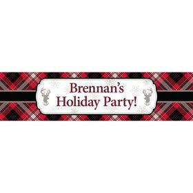 Holiday Plaid Personalized Banner (Each)