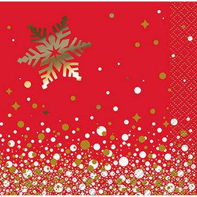 Holiday Snowflake Beverage Napkins (16)