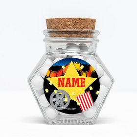 """Hollywood Personalized 3"""" Glass Hexagon Jars (Set of 12)"""