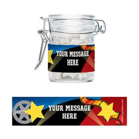 Hollywood Personalized Glass Apothecary Jars (12 Count)