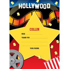 Hollywood Personalized Thank You Note