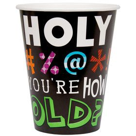 Holy Bleep 12oz Paper Cups (8 Pack)