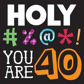 Holy Bleep 40th Birthday Napkins (16 Count)