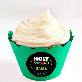 Holy Bleep Personalized Cupcake Wrappers (Set of 24)