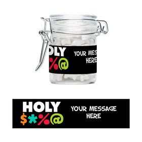 Holy Bleep Personalized Glass Apothecary Jars (12 Count)S