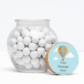 """Hot Air Balloon Personalized 3"""" Glass Sphere Jars (Set of 12)"""