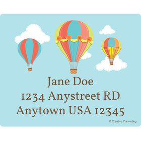 Hot Air Balloon Personalized Address Labels (Sheet of 15)
