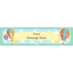 Hot Air Balloon Personalized Banner (Each)