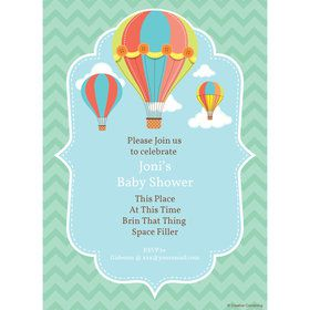 Hot Air Balloon Personalized Invitation (Each)