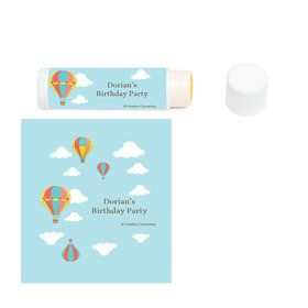Hot Air Balloon Personalized Lip Balm (12 Pack)