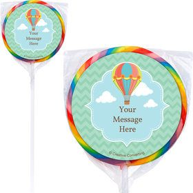 Hot Air Balloon Personalized Lollipops (12 Pack)
