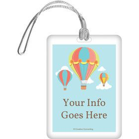 Hot Air Balloon Personalized Luggage Tag (Each)