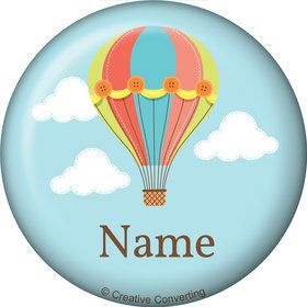 Hot Air Balloon Personalized Mini Magnet (Each)
