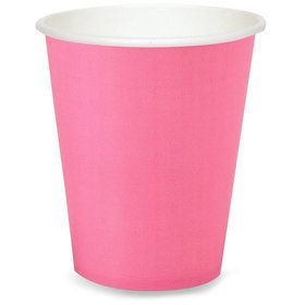 Hot Pink 9 oz. Paper Cups (8 Count)