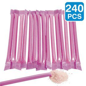 "Hot Pink Candy Filled 6"" Straws (240 Pack)"
