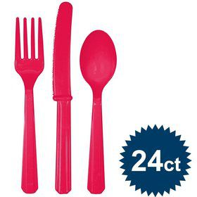 Hot Pink Cutlery Set