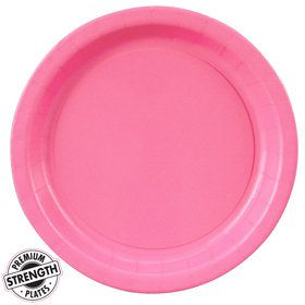 Hot Pink Dinner Paper Plates (8 Count)