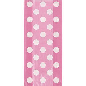 Hot Pink Dots Cello Favor Bags (20 Pack)