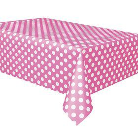 Hot Pink Dots Table Cover (Each)