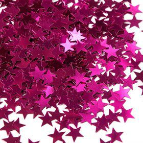 Hot Pink Stars Foil Confetti .5oz (Each)