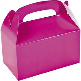 Hot Pink Treat Favor Boxes (12)