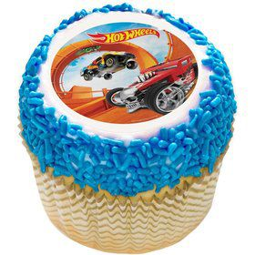 "Hot Wheels 2"" Edible Cupcake Topper (12 Images)"
