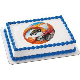 Hot Wheels Quarter Sheet Edible Cake Topper (Each)