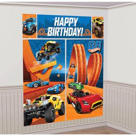 Hot Wheels Wild Racer Scene Setter Wall Decorating Kit (Each)