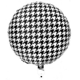 Houndstooth Party Mylar Balloon - (1)