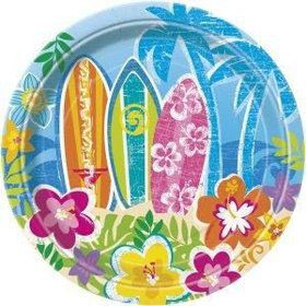 "Hula Beach Party 7"" Cake Plates (8 Pack)"