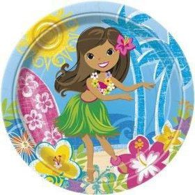 "Hula Beach Party 9"" Luncheon Plates (8 Pack)"