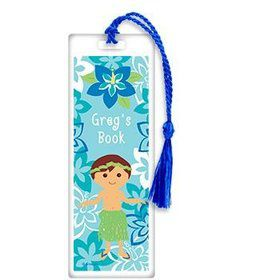 Hula Boy Personalized Bookmark (each)