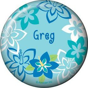 Hula Boy Personalized Button (each)