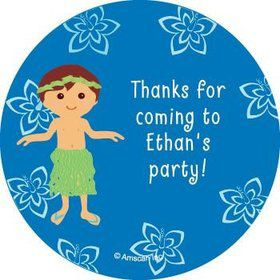 Hula Boy Personalized Stickers (sheet of 12)