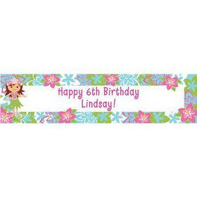 Hula Girl Personalized Banner (each)